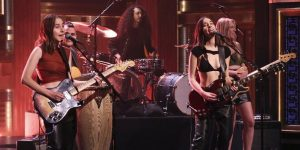 """Watch HAIM Perform """"The Steps,"""" Appear in a Sketch on Fallon"""